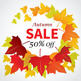 autumn sale banner flat design for web and print