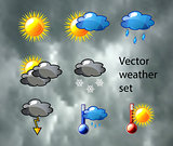 Vector weather set
