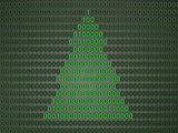 digital christmas tree