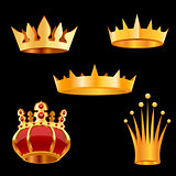 Crown set. Vector