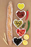 French Baguette with Antipasti