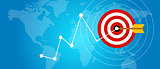 achieving target strategy improvement concept growth market arrow goals