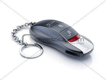 Modern sport car key isolated