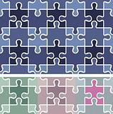 puzzle seamless pattern / vector background