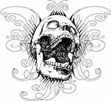 Screaming skull vector illustration