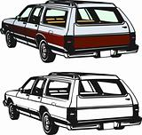 Stationwagon vector illustration