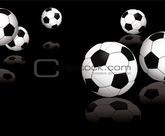 football reflect black