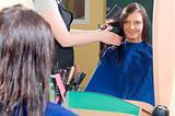 in the hair salon