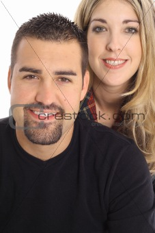 beautiful woman with latino man