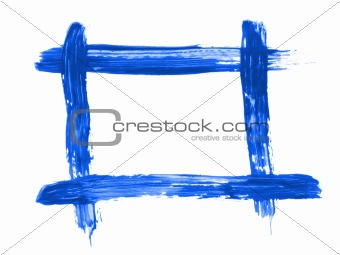 blue painted frame