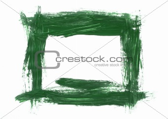 green painted frame