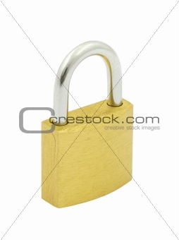 padlock on pure white background