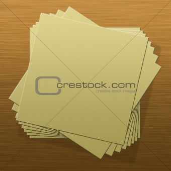 Blank notepad pages