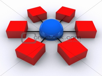 3d network illustration