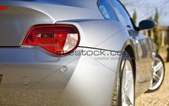 Sliver Sports Car on drive