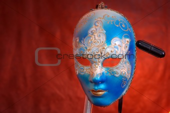 carnival mask on a support