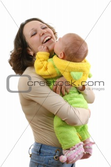 baby on mother hands