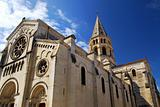 Gothic church in Nimes France