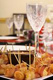 shot of a table setting with appetizers