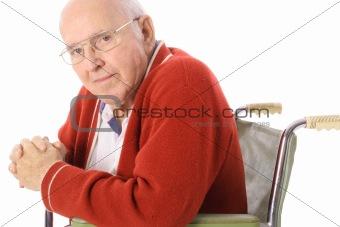 shot of a handsome senior citizen in wheelchair