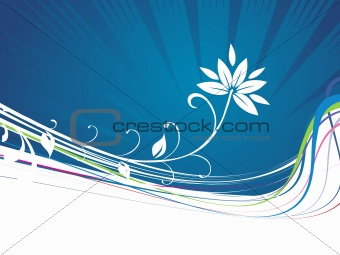 abstract floral background-vector