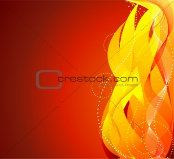 Abstract  fire  background - vector