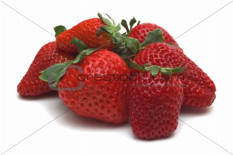 strawberry on white background