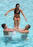 Teenagers in the pool