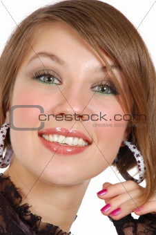 portrait of the attractive smiling girl