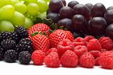 fresh berry on white background