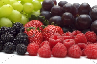 fresh berry on white background