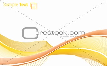 Abstract lines paper template with sample text and logo