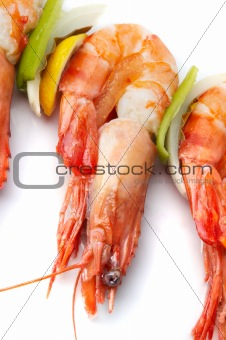 large shrimps with vegeables