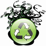 High Quality Recycling Icon With Tree Branches Escaping