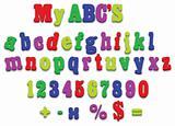 Vector fridge magnet alphabet spelling letters