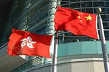 China and Hong Kong flags
