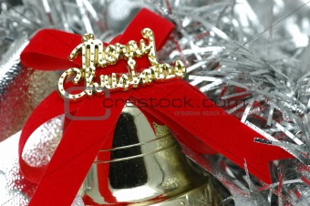 Close up of christmas bell