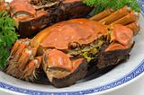 Steamed shanghai crabs