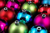 Multi-color christmas balls