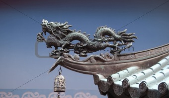 Dragon on Asian Roof