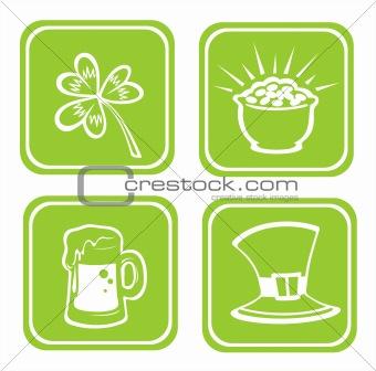 green Irish symbols