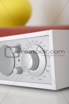 Modern radio set with retro design