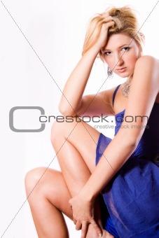 Beautiful sexy woman in a dress