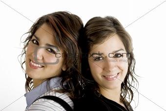 Beautiful female twins