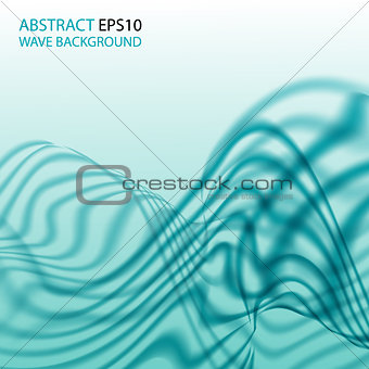 Abstract background with aqua wave. Vector