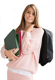 Teenage girl with  school bag