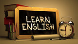 Learn English Concept Hand Drawn on Chalkboard.