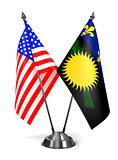 USA and Guadeloupe - Miniature Flags.