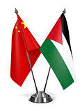 China and Jordan - Miniature Flags.