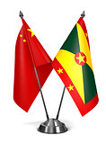 China and Grenada - Miniature Flags.